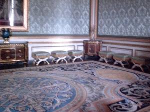 Inside the Versailles castle.