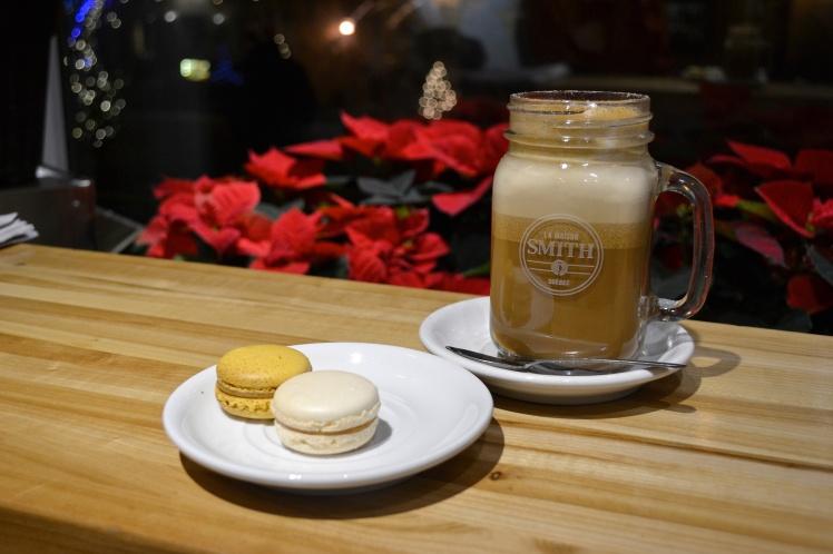 Macarons; Maple Latte; Maison Smith cafe; old Quebec; Quebec City; Petit Champlain; The Full-Time Tourist; Instagram